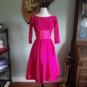 Hot Pink 60's Party Dress!